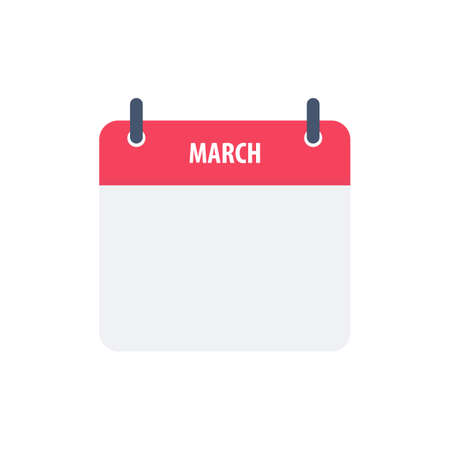Calendar icon symbol march simple design