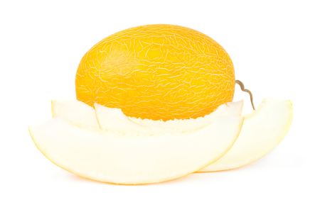 Sweet melon isolated on a white background cutout