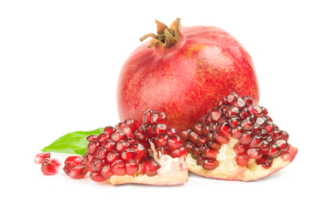 garnets: Pomegranate isolated on a white background cutout