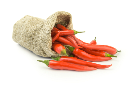 chili peppers: Red chili peppers isolated on a white background