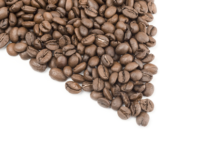 cafe colombiano: Brown coffee on a white background. Clipping path