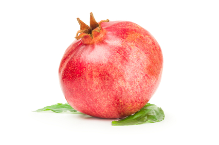 granatum: Red pomegranate isolated on a white background cutout