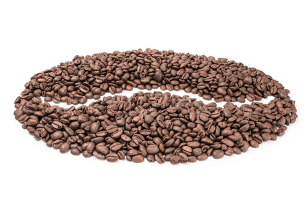 columbian: Brazilian coffee on a white background. Clipping path