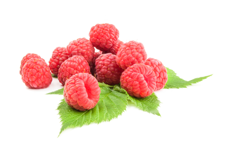 Raspberries isolated on a white background with clipping path