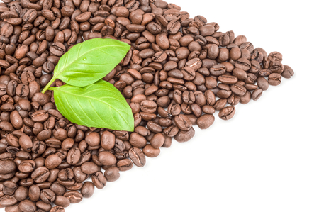 Coffee beans isolated on a white background cutout