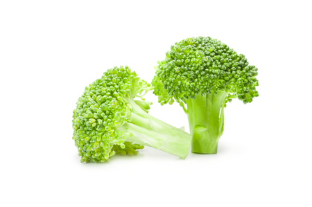 floret: Broccoli floret isolated on a white background cutout