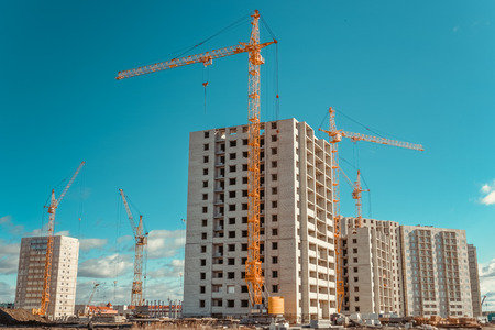 New of multi-storey building and construction works.