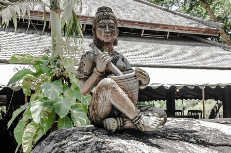 thai musical instrument: Wood Carving Art at The Sanctuary of Truth, Thailand.