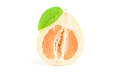 Pummelo isolated on a white background cutout Stock Photo