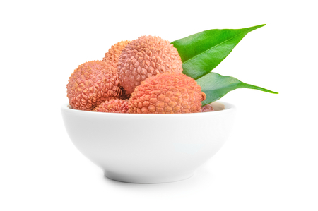 Lychee isolated on a white background cutout
