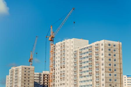 erection: New building Stock Photo