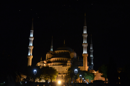 Beautiful Blue Mosque (Sultanahmet), Istanbul. Stock Photo