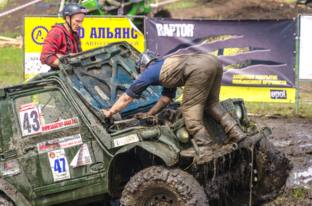 SALOVKA, RUSSIA - MAY 5, 2017: Championship off-road on oall-wheel drive cars cars at the annual car racing