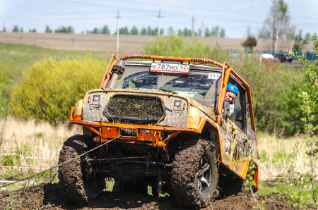 SALOVKA, RUSSIA - MAY 5, 2017: Annual off-road racing on off-road vehicles at the annual competition Trofi rubezh 2017.