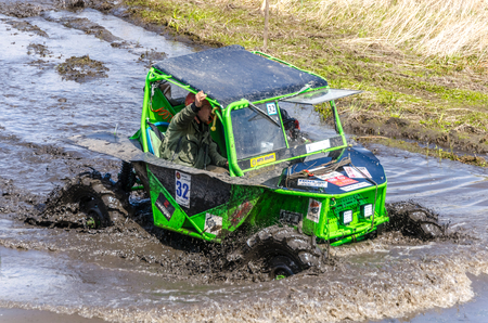 SALOVKA, RUSSIA - MAY 5, 2017: Muddy competition at the annual car racing