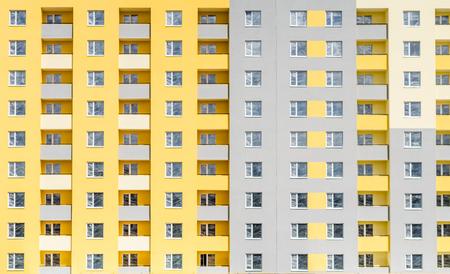Facade of a multi-storey building. Fragment Stok Fotoğraf