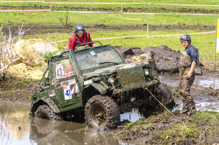 SALOVKA, RUSSIA - MAY 5, 2017: Muddy competition at the annual competition