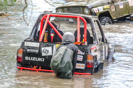 SALOVKA, RUSSIA - MAY 5, 2017: Off road competition at the annual car racing