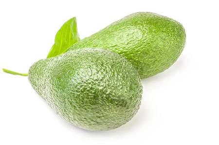 Fresh avocados isolated on white Reklamní fotografie - 123624458