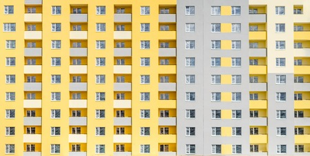 Facade of a multi-storey building. Background Reklamní fotografie