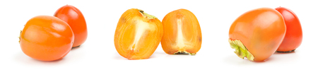 Collection of persimmon isolated on a white background Reklamní fotografie