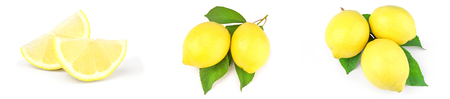 Set of lemons isolated on a white background