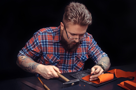 Leather Artisan at work