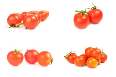 Collage of tomatoes cherry Reklamní fotografie