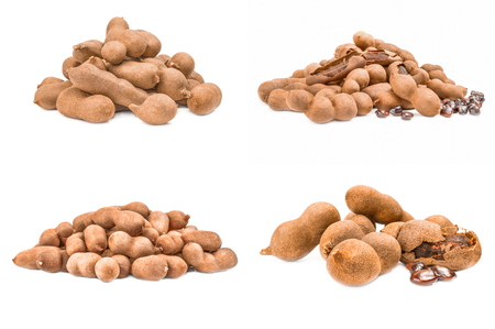 Set of Tamarind isolated on a white background cutout