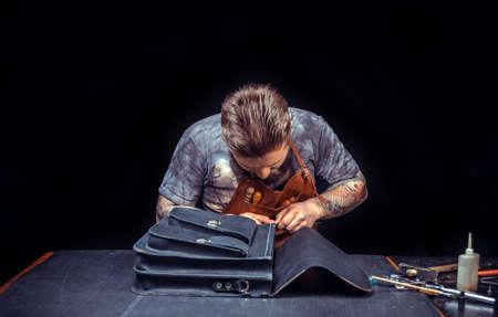 Professional Tanner working as artisan