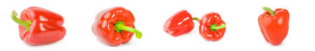 Set of sweet peppers on a white background Reklamní fotografie