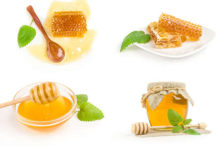 Set of honey isolated on a white background cutout Reklamní fotografie - 159581313