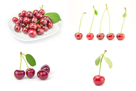 Set of Cherry on a background