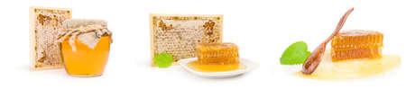 Set of sweet honey on a white background cutout Reklamní fotografie - 159585778