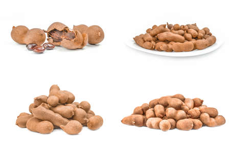 Collage of Tamarind isolated on a white background cutout