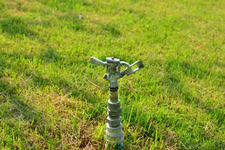 The Garden Irrigation System Or Watering Sprinkler