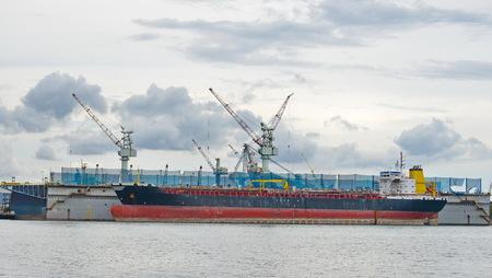 shiprepair: ship waiting for repair