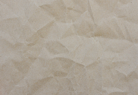 cardboard background: crumpled brown paper texture for background Stock Photo