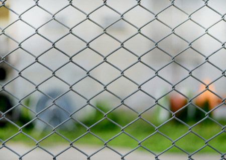link fence: the chain link fencing