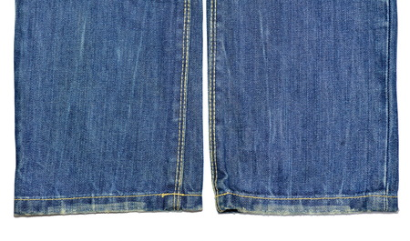 trousers: blue jeans trousers edge isolate on white