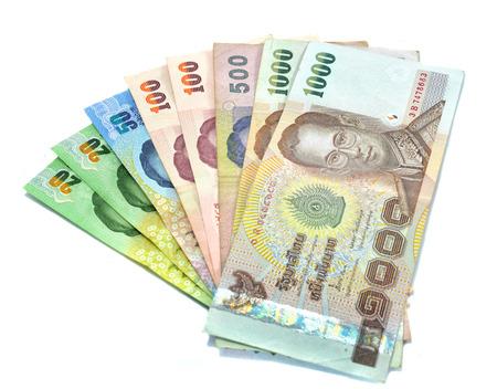 banco dinero: billete de banco el dinero aislado en el fondo blanco Foto de archivo