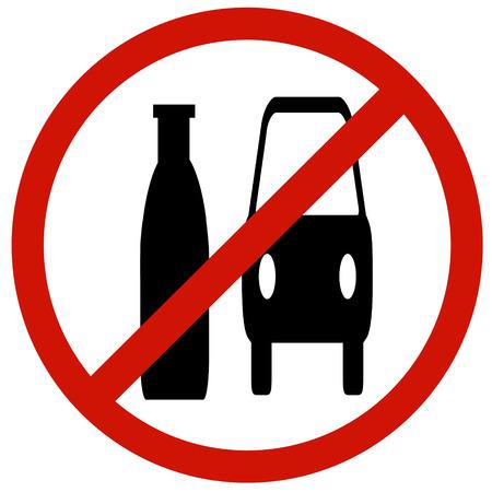 se�ales de seguridad: El m�s com�n es No beber y conducir signbaord