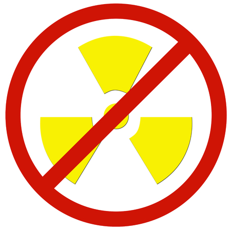 radioactivity: no radioactivity sign board Stock Photo