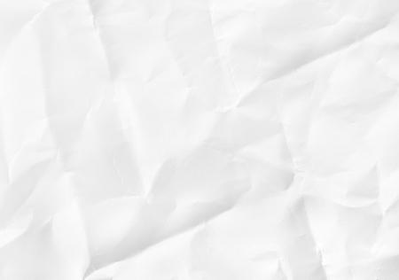 zerknittertes weißes Papier Textur für den Hintergrund Standard-Bild