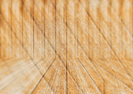 wood wall texture: wood texture perspective floor and wall - blur effect background Stock Photo