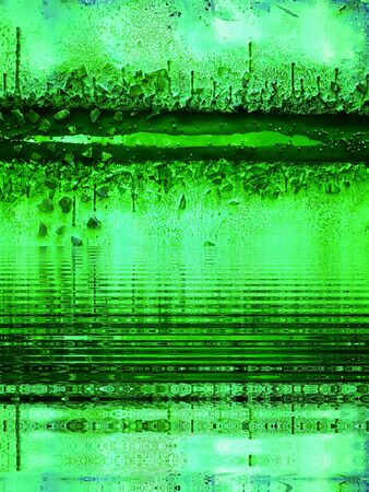 Abstract creative images imagining futuristic space life and living landscape in shades of emerald green 版權商用圖片