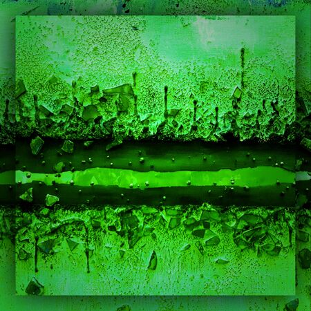 abstract original images imagining futuristic space life and living landscape in shades of emerald green