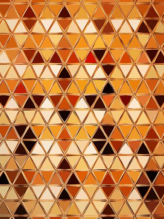 triangular mosaic image full top down view of tray or carton full of many raw eggs with creative imaginative