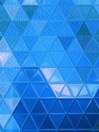 shades of light pale blue designed as simple wave form as modern abstract futuristic art triangular mosaic designs