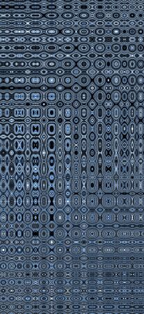 pointillist dot style from many stainless steel braided flex-hose pieces as abstract patterns and designs in blue light Archivio Fotografico